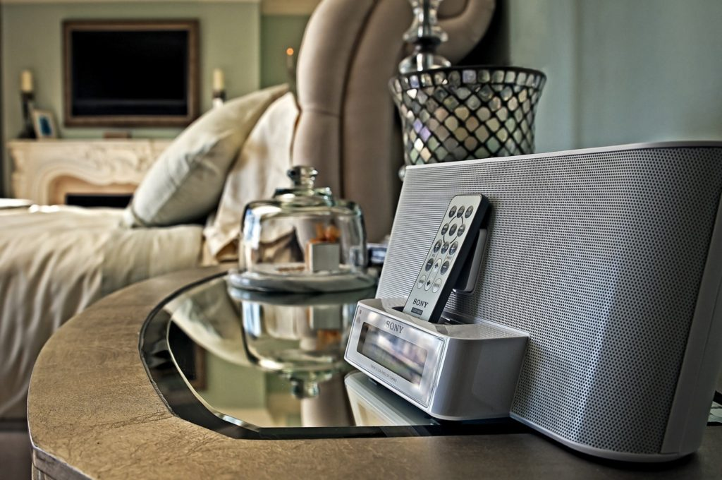 French Suite Nightstand with iPhone Docking Station