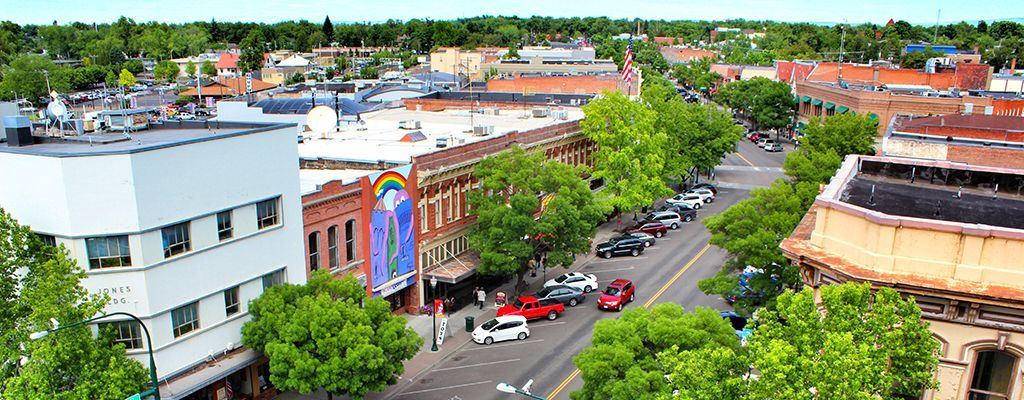 Aerial View of Downtown Walla Walla