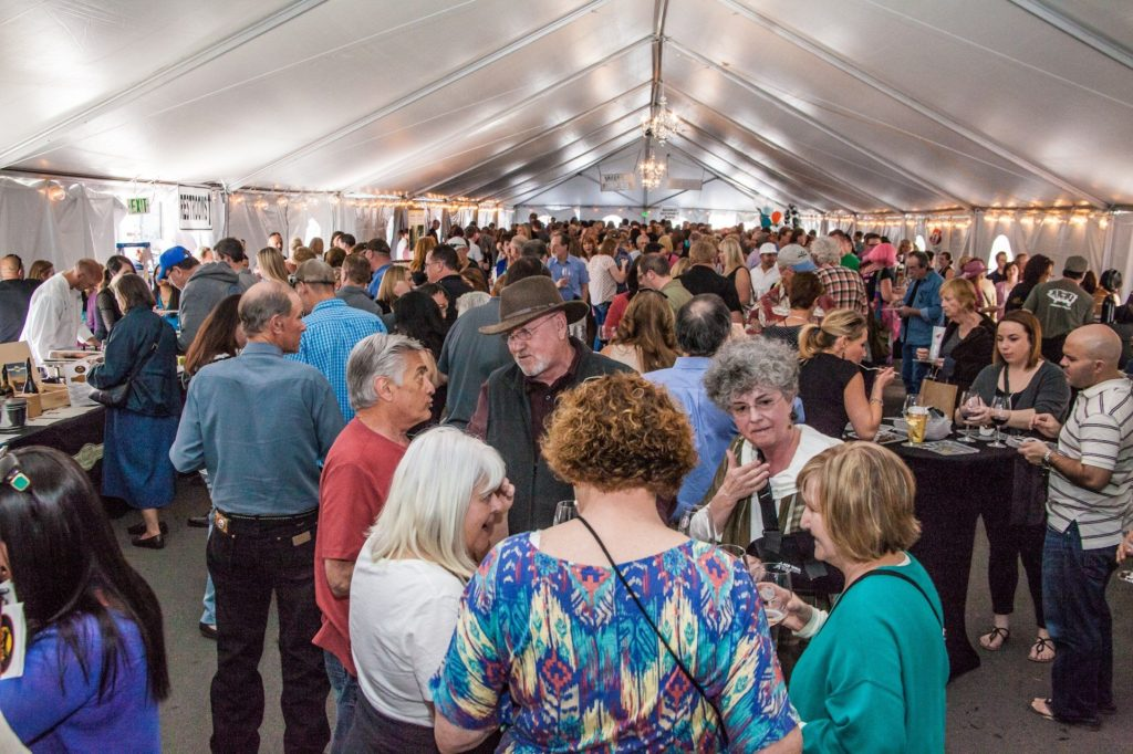 Feast - Walla Walla Big Tent filled with people