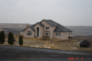 View of Cameo Heights Mansion from the road in front of it in 1997
