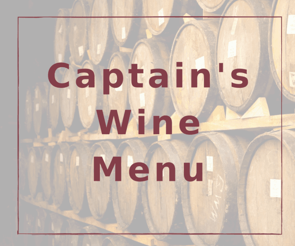 Captain's Wine Menu